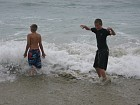 Peter and Sean in the Pacific Ocean