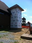 Elevator shaft with roofing - 6/30/2012