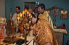 Led around altar table