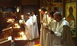 Fr. John reads the Sermon of St. John Chrysostom on Pascha Night