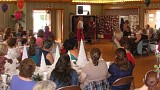 The Festival included a fashion show featuring members of the Parish modeling outfits purchased at area consignment shops. What a great idea!