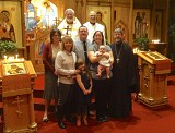 Caleb's Baptism -- Family, Godparents, and Friends after the Service