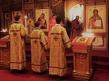 Our Altar Servers wearing the New Robes