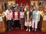 Workshop Leader Robin Freeman with Participants from our Parish Choir
