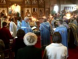 Clergy and Faithful Praying during Vespers
